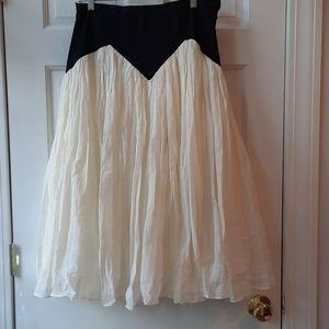 Diana Ruffled A-Line Skirt